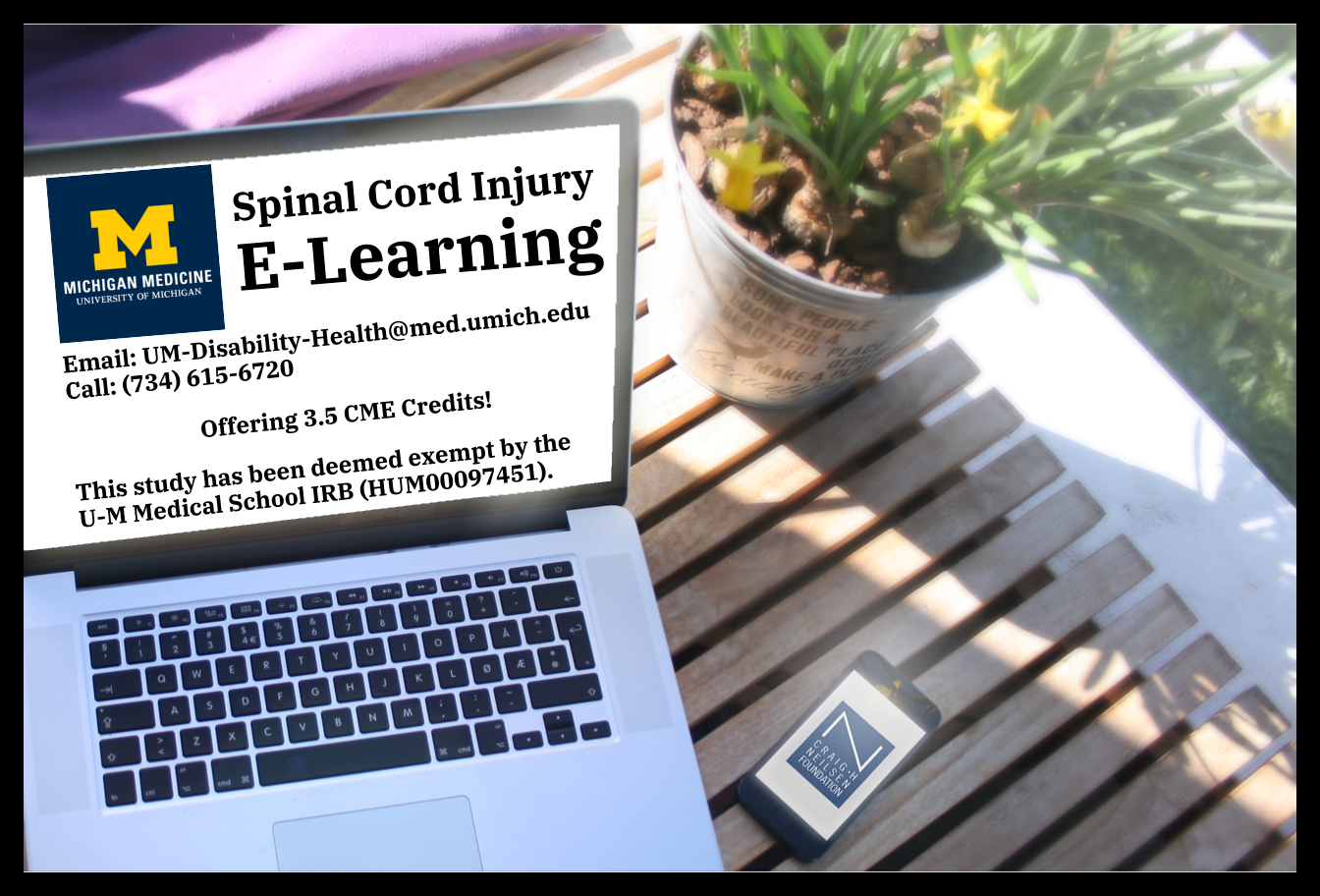 We offer an e-learning course about working with patients who have Spinal Cord Injury. Full details about the course are described next.