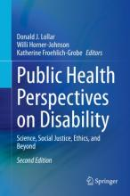 Public Health Perspectives on Disability Book Cover